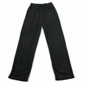 Club Room Mens Pajama Pants Fleece Lounge Burgundy